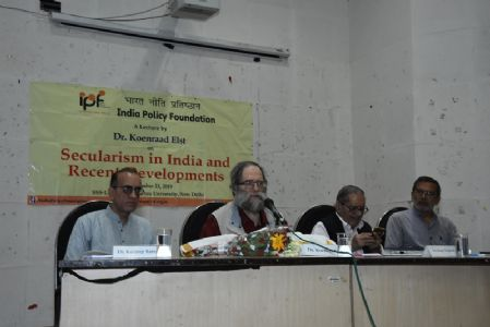 Lecture by Dr. Koenraad Elst on Secularism in India and Recent Developments on September 23, 2019 at School of Social Sciences, Jawaharlal Nehru University, New Delhi