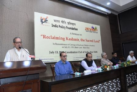 Seminar on Reclaiming Kashmir, the Sacred Land on July 13, 2019 at Constitution Club, New Delhi