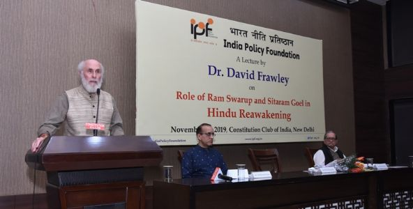 Lecture by Dr. David Frawley on Role of Ram Swarup and Sitaram Goel in Hindu Reawakening on Nov. 14, 2019 at Constitution Club of India, New Delhi.