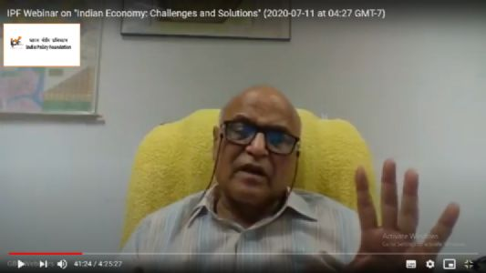 IPF Webinar on Indian Economy: Challenges and Opportunities