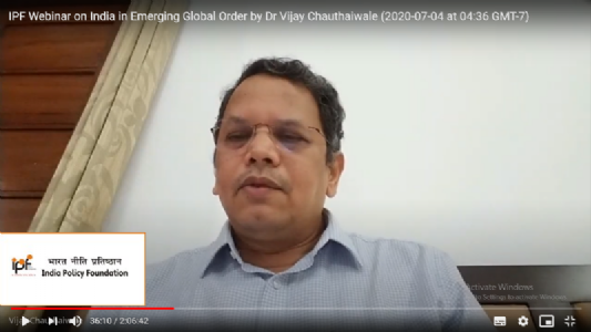IPF Webinar on India in Emerging Global Order