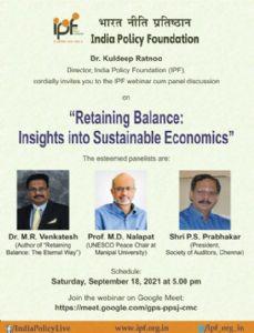 IPF webinar cum panel discussion on